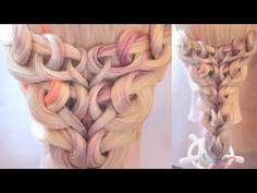 "Причёска из петелек - ""Сердца"" - Hairstyles by REM - YouTube"