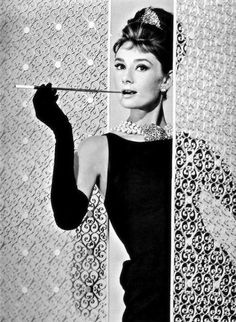 For one of my dinner guests I would choose one of the classiest people in Hollywood- Audrey Hepburn. From her poised disposition to her distinctive fashion sense Audrey Hepburn would be a glamorous asset to my dinner. Holly Golightly, Golden Age Of Hollywood, Hollywood Glamour, Old Hollywood, Audrey Hepburn Outfit, Audrey Hepburn Quotes, Audrey Hepburn Breakfast At Tiffanys, Aubrey Hepburn, Divas
