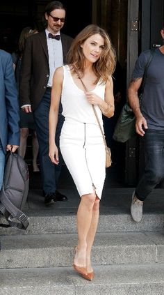 Actress Keri Russell sighted at the Hotel de Rome on July 2014 in. Celebrity Fashion Looks, Celebrity Look, Look Fashion, Fashion Beauty, Celebrity Outfits, Keri Russell Hair, Keri Russell Style, Krysten Ritter, Kirsten Dunst