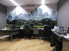 Painéis fotográficos em escritório