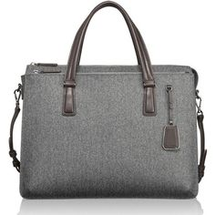 Women's Tumi 'Sinclair - Nina' Coated Canvas Commuter Briefcase ($560) ❤ liked on Polyvore featuring bags and briefcases