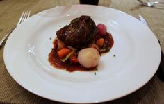 Beef Short ribs with root vegetable and bone marrow
