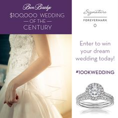 The Ben Bridge $100,000 Wedding of the Century Sweepstakes is back! Enter today! #100kwedding http://www.benbridge.com/100kwedding