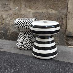 paola navone - tabourets céramique inout