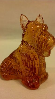 HONEYCOMB BOYD CRYSTAL GLASS DUKE SCOTTISH TERRIER DOG ANIMAL PUPPY FIGURINE  #BOYDGLASS