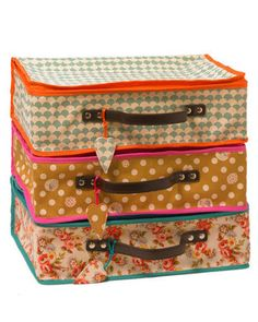 Lale suitcases. Perfect when staying in cosy accomodation.