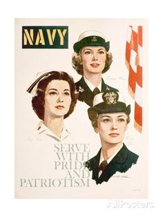 Navy - Serve with Pride and Patriotism Recruiting Poster reproduction procédé giclée sur AllPosters.fr