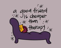 Friend Therapy Art Print http://doodlidos.myshopify.com/collections/word-art-prints?page=3#
