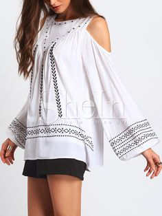 Women's Clothing Hearty Vintage Linen Embroidery Bohemian Womens Holiday Shirts Sexy Slash Neck Off Shoulder Bandage Lantern Sleeve Blouses Tops Blusas Punctual Timing