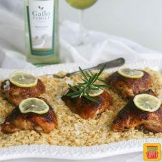 Lemon Rosemary Moscato Chicken #SundaySupper