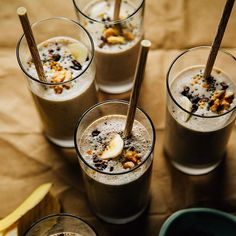 Good Morning Shake! Rich & Nourishing Raw Banana Bread Shakes with #homemade walnut milk by Laura @thefirstmess! She adds banana, cinnamon, vanilla, and cacao nibs to her walnut milk to create these amazing shakes.Making a nut milk or other nut derivative is not just about avoiding dairy…the textures and flavors (different with every nut) add so much to drinks, soups & so much more. #breakfast http://instagram.com/p/yt_9r_q8m0/