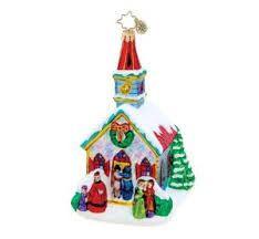Radko MIDNIGHT VIGIL church ornament NEW