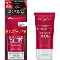 sample size of L'Oréal Revitalift Miracle Blur Instant Skin Smoother Finishing Cream SPF 30