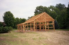 A gallery of barns and other agricultural buildings. post and beam construction, mortise and tenon joinery, luxury horse stables and solid wood timbers. Awning Shade, Timber Frame Homes, Timber Frames, American Barn, Agricultural Buildings, Garage Apartment Plans, Lean To, Container House Design, Post And Beam