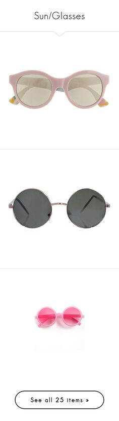 """""""Sun/Glasses"""" by ashtrayflowers ❤ liked on Polyvore featuring accessories, eyewear, sunglasses, glasses, oversized sunglasses, vintage style sunglasses, over sized sunglasses, retrosuperfuture, vintage style glasses and jewelry"""