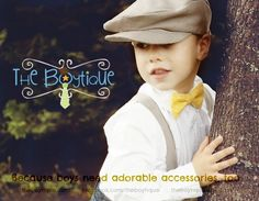 Boys Bow Tie and Suspenders:  ANY Solid Colour, Blue, Green, Yellow, Black, Grey, White, Red, Purple, Cream, Brown, Navy, Blue, Orange, Pink. $30.00, via Etsy.