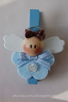Angel azul para bolsa de regalo