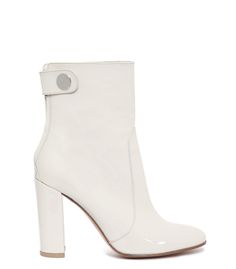 Gianvito Rossi White Patent Leather Ankle Bootie
