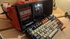 The Reviiser is a printed, Raspberry Pi cyberdeck - htxt. Dig Gardens, Back Gardens, Arduino, Tech Magazines, Garden Posts, Home Tech, Urban Survival, Garden Structures, Garden Spaces