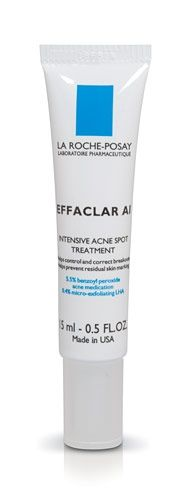La Roche-Posay Acne spot Treatment - this works better than any Rx I've ever tried