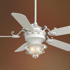 Perfect french country ceiling fan for any french country style room! French Country Bedrooms, French Country Cottage, French Country Style, French Country Decorating, European Style, Home Design, Ceiling Fan Chandelier, Ceiling Fans, Chandeliers