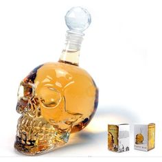Crystal Skull Head Vodka Bottle Decanter