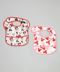 Disney Baby Minnie Mouse SuperBib® - Set of Two by Disney Baby from Bumkins #zulily #zulilyfinds