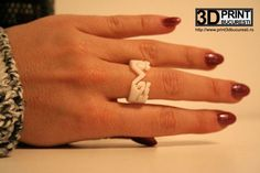 """The ring shows on its surface an old stitch often seen in northern and north-eastern Romania, especially in Bukovina, but also in Moldova and northern Transylvania, so popular known as the """"Horns of the Aries"""", inspired by the royal sign, symbol of masculine energy, power and virility.  #design #3dprinted #jewelrydesign Masculine Energy, 3d Printed Jewelry, Moldova, Aries, Romania, Horns, Jewelry Collection, Stitches, Heart Ring"""