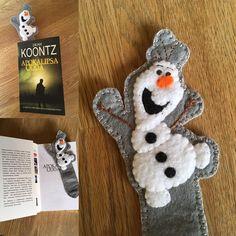 Coś dla wielbicieli Krainy Lodu 😉 #dladzieci #zakladka #bookmark #book #kochamczytać #zakladkadoksiazki #handmade #robotkireczne #nasprzedaz #sprzedam #krainalodu #frozen #bałwan #filc #olaf #szycie #design #niezchinzpasji #instacraft