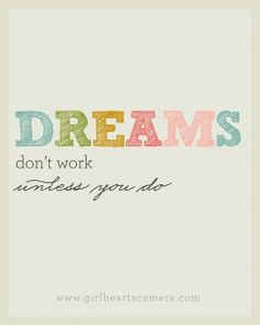Motivation Monday: Are you willing to put in the effort to reach your goals? Post on Should You Eat That? blog. Dreams don't work unless you do - #motivationmonday
