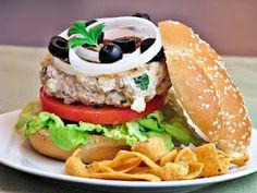 Feta turkey burger
