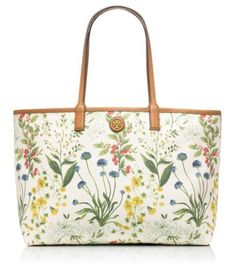 Tory Burch botanical tote~ this floral is so pretty.