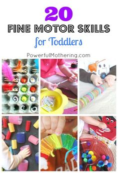 Fine motor skill are an essential part of our young ones development. Take a look at these 20 fabulous ideas and get started right away!