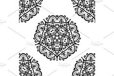 Oriental vector pattern with damask, arabesque and floral elements. Damask Patterns, Arabesque, Vector Pattern, Abstract Backgrounds, Oriental, Wallpaper, Floral, Wallpapers, Flowers