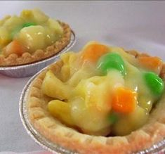 Chicken pot pie ...April Fool's...made with Starburst, pudding, and jolly ranchers