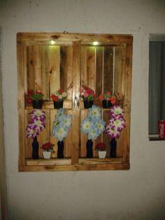 Painel de flores de palett