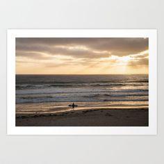 Surfers+Sunset+2+Art+Print+by+Mareike+Böhmer+Photography+-+$20.00