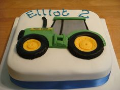 Tractor Birthday Cakes, Second Birthday Cakes, Baby Birthday Cakes, Cow Cakes, Truck Cakes, Eat Dessert First, Cakes For Boys, Tractors, Cake Decorating