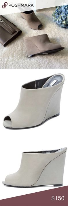 Schultz Grey FAB Wedge  Schultz Gorgeous Grey Perfect Condition Wedges.  absolutely stunning!!!!!!  Schultz Shoes