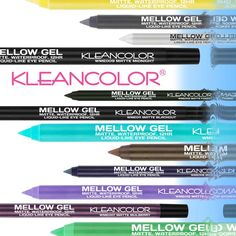 Mellow Gel Matte Waterproof Liquid-like Eye Pencils are here!!  These vivid matte, gel texture colors glide with no tugging and stick around for 12 hour, waterproof wear.  Get your hands on a mellow application with some serious staying power! #kleancolor #new #mellowgel #matte #waterproof #liquidlike #eyepencil #eyeliner #gel #geleyeliner #vividcolor #makeup #cosmetics #beauty