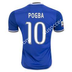 2016-17 Juventus Away POGBA Blue Thailand Soccer Jersey AAA