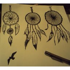 I am gonna do a similar dreamcatcher to the one on the far left. There will be an evil eye in the center of the little circle!