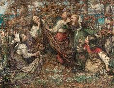 The Earth's Awakening, 1909 by Edward Atkinson Hornel (1864-1933)
