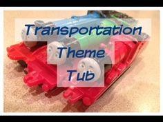 Awesome ideas for a Preschool Theme Tub: Transportation