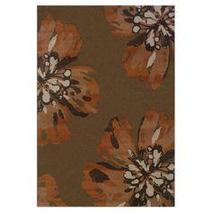 Found it at Wayfair - Lester Brown & Orange Floral Rug