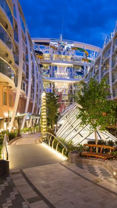 Harmony of the Seas | Choose a balcony room for an incredible view of the quaint and wondrous Central Park, a staple on Royal Caribbean's largest ship in the world.