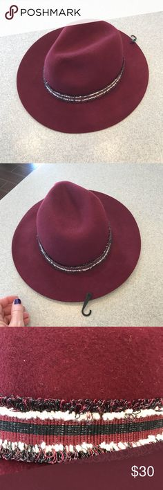 NWT Vince Camuto pomegranate colored wool hat NWT Vince Camuto pomegranate colored wool hat.   Location 9 Vince Camuto Accessories Hats