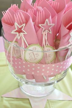 Star themed Pink and Green Birthday Party Ideas   Photo 6 of 41   Catch My Party
