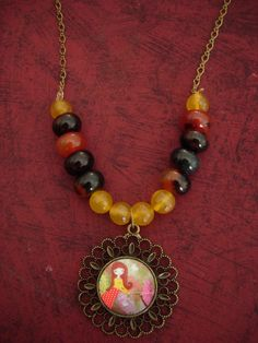 Gone with the Wind  Whimsical Art  Illustrated necklace by eltsamp, $38.00