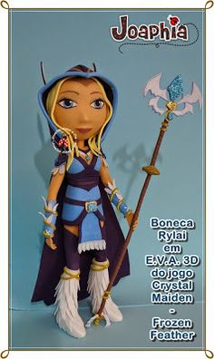 JOAPHIA ARTES E CIA: RYLAI EM E.V.A. 3D - CRYSTAL MAIDEN FROZEN FEATHER